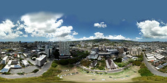 315 feet above the Central Union Church in Honolulu - an aerial 360° Equirectangular VR