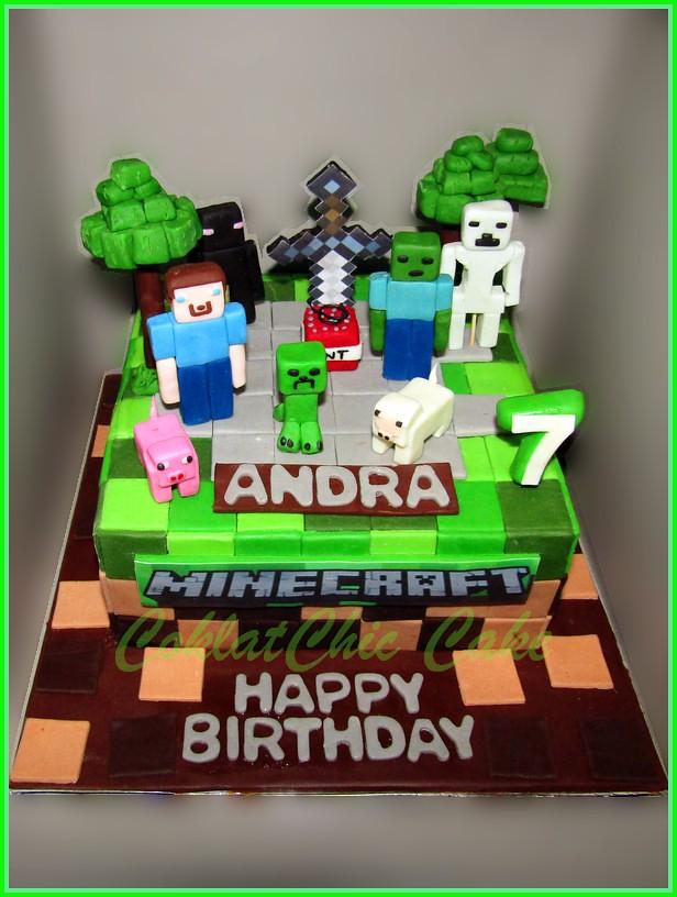 Cake Minecraft ANDRA 18 cm
