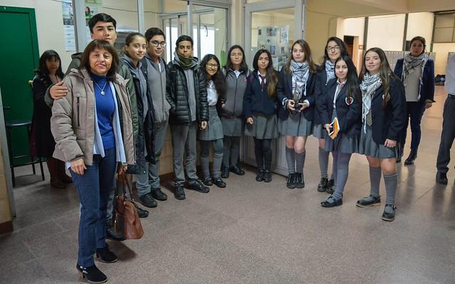 Visita del CEAT al Colegio Chileno Árabe