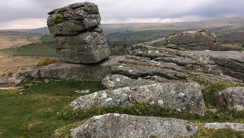 Heckwood Tor leaning rock
