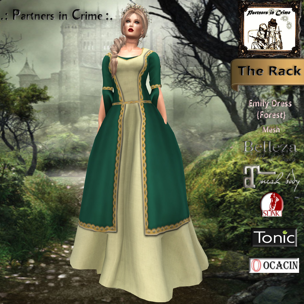 Emily Dress {Forest} - TeleportHub.com Live!