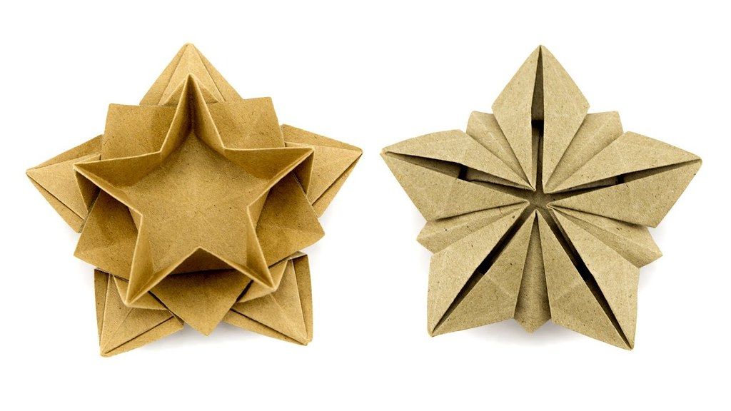 Origami Star Bowl Tutorial Masoud Hosseini