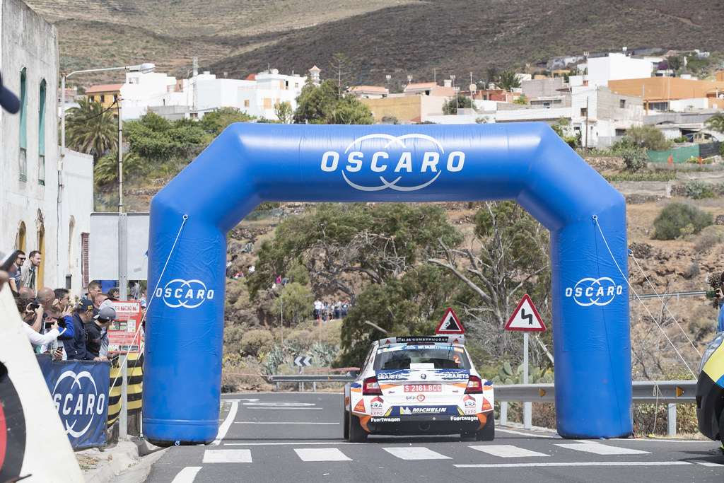 02 MAGALHAES Bruno (prt), MAGALHAES Hugo (prt), SKODA FABIA R5, action during the 2018 European Rally Championship ERC Rally Islas Canarias, El Corte Inglés,  from May 3 to 5, at Las Palmas, Spain - Photo Gregory Lenormand / DPPI