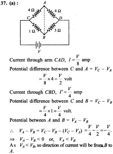 NEET AIPMT Physics Chapter Wise Solutions - Current Electricity explanation 37