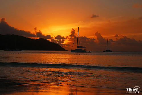 africa seychelles beach praslin anse lazio anselazio sunset sailboat boat