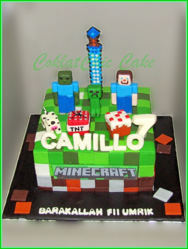 Cake Minecraft CAMILLO 15 cm