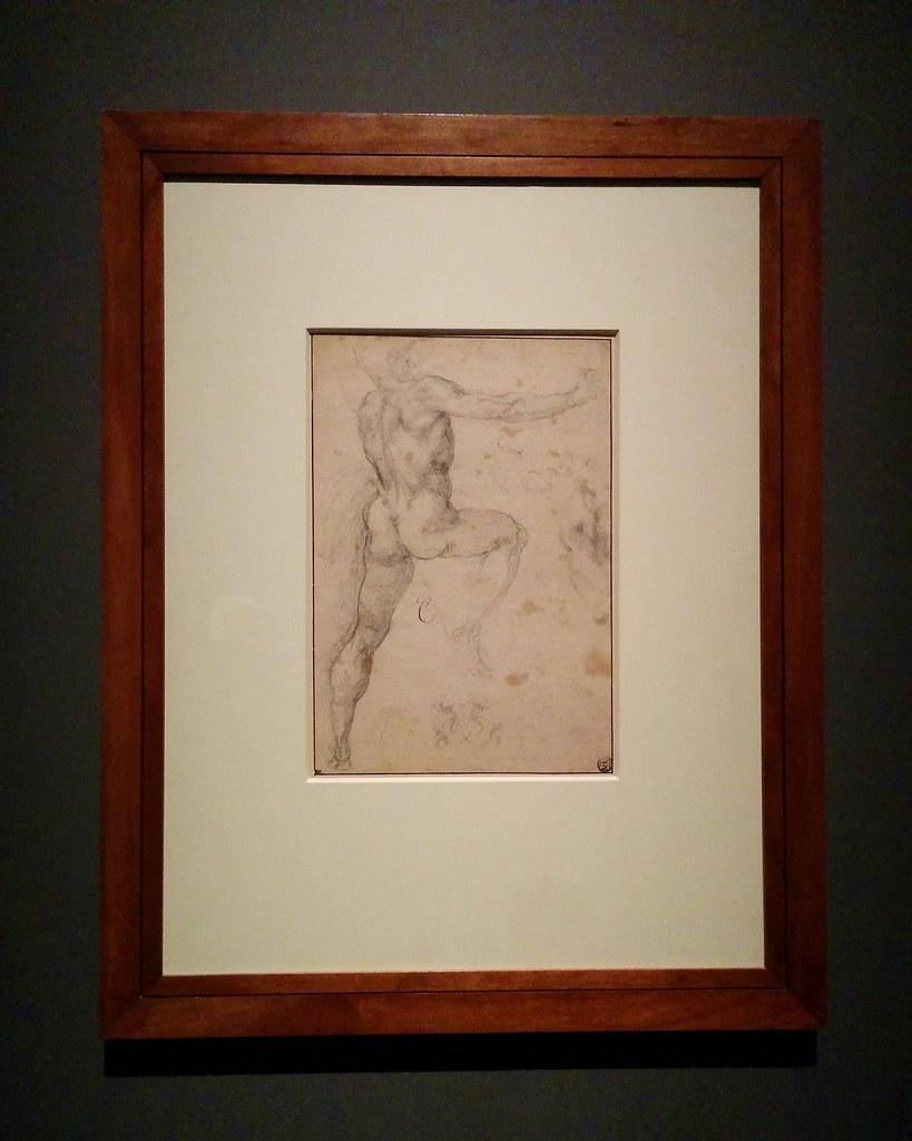 Study of a Standing Male Nude Seen From the Back #newyorkcity #newyork #metmuseum #metmichaelangelo #michaelangelo #drawing #latergram