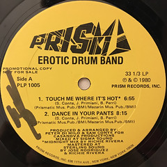 EROTIC DRUM BAND:TOUCH ME WHERE IT'S HOT(LABEL SIDE-A)