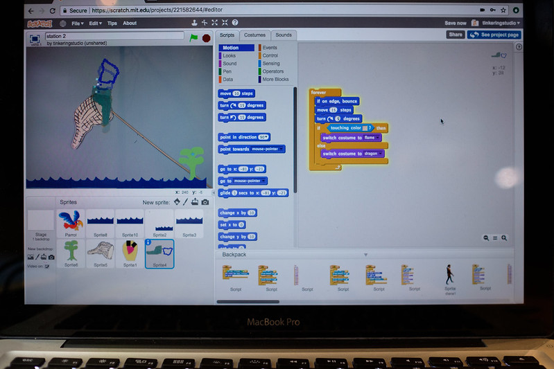 Video sensing with Scratch