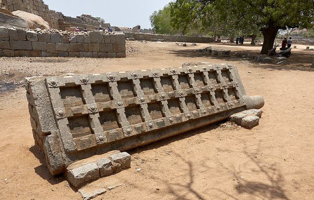Stone gate at royal compound