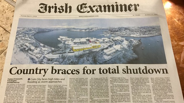 Country braces for total shut-down, 1 March 2018