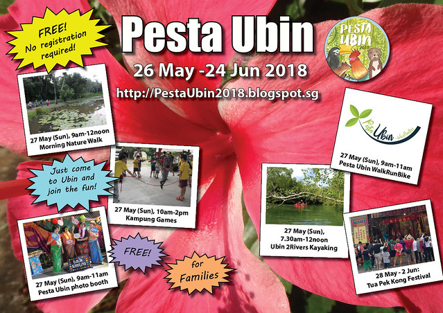 Pesta Ubin 2018: 27 May (Sun)