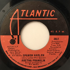 ARETHA FRANKLIN:SPANISH HARLEM(LABEL SIDE-A)
