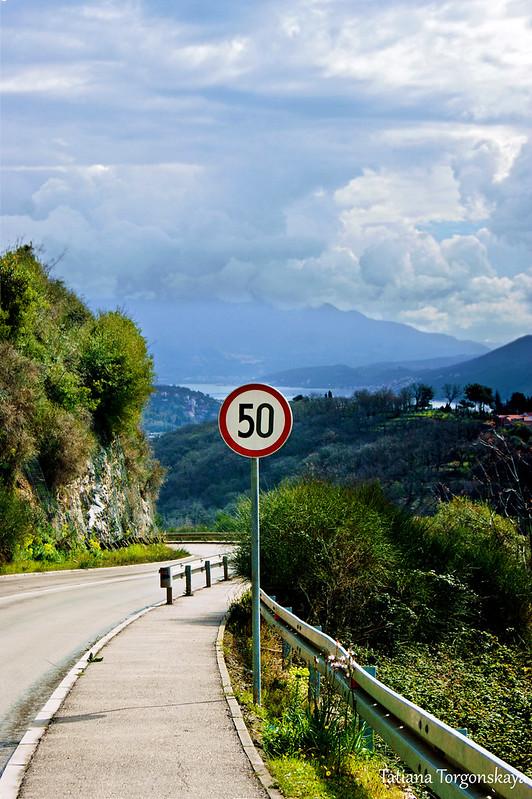 Ограничение скорости на горной дороге