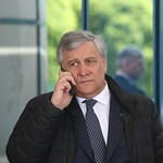 Antonio Tajani arrives at Sofia Airport ahead of the EU - Western Balkans Summit