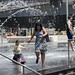 Woman and Child at the Fountain at 7th Street Park