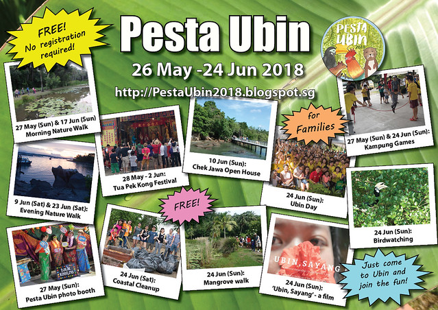 Pesta Ubin 2018: Activities which are FREE, no registration required!