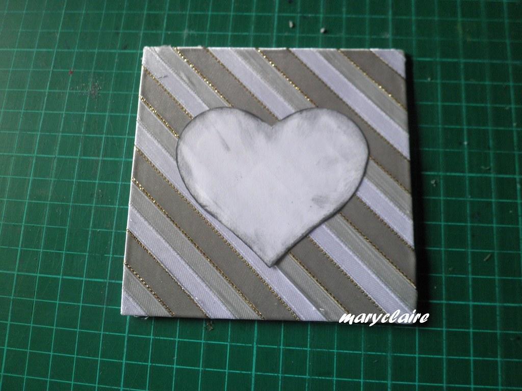 applicare cuore cartoncino