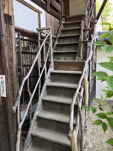岩村 木村邸 老松小屋 入り口階段 IMG_0356
