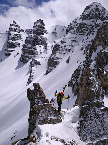 Ski de rando côte de l'âne, sanguinierette, sanguiniere