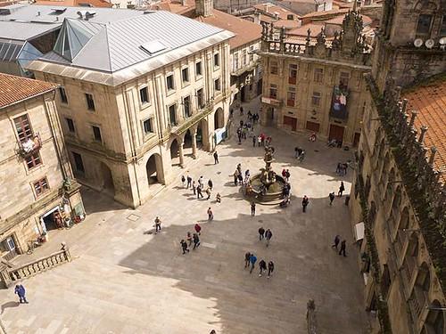 Praza Praterías desde las alturas. #compostela #santiagodecompostela #praterías #olympusomd #galicia