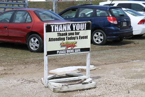 4.22.18 La Crosse Fairgrounds Speedway - Thank You sign
