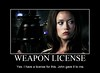 Summer Glau TSCC Cameron weapon license