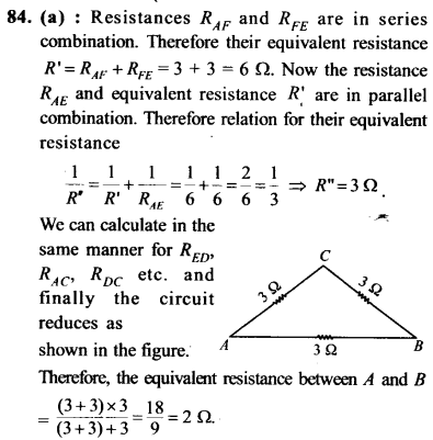 NEET AIPMT Physics Chapter Wise Solutions - Current Electricity explanation 85