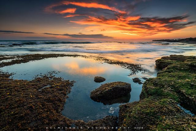 sunset at lima beach Bali