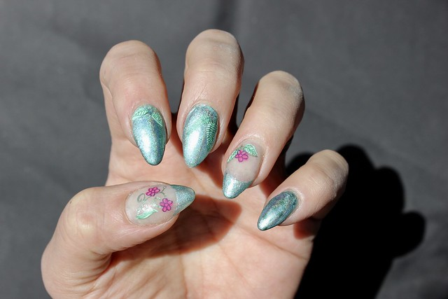 halo chrome clear jelly layered stamping plate
