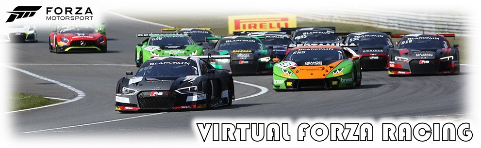 Virtual Forza Racing - Forza Blancpain GT series. Starting 6th June. Racing Bi-Weekly on a Wednesday at 8:30pm BST 41774429751_8684ba5d2f_b