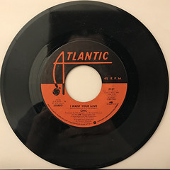 CHIC:I WANT YOUR LOVE(RECORD SIDE-A)