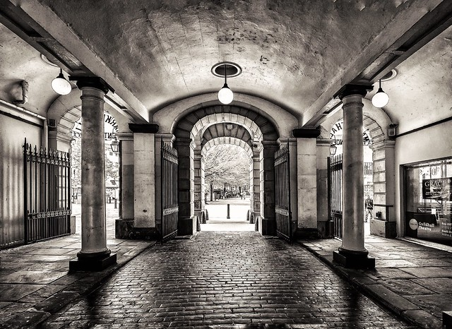 Derby's Guildhall Market Entrance