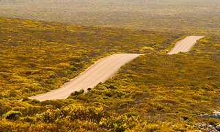 Road to remarkable rocks lookout, Flinders chase national park, Kangaroo Island, South Australia