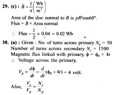 NEET AIPMT Physics Chapter Wise Solutions - Electromagnetic Induction and Alternating Current explanation 29,30