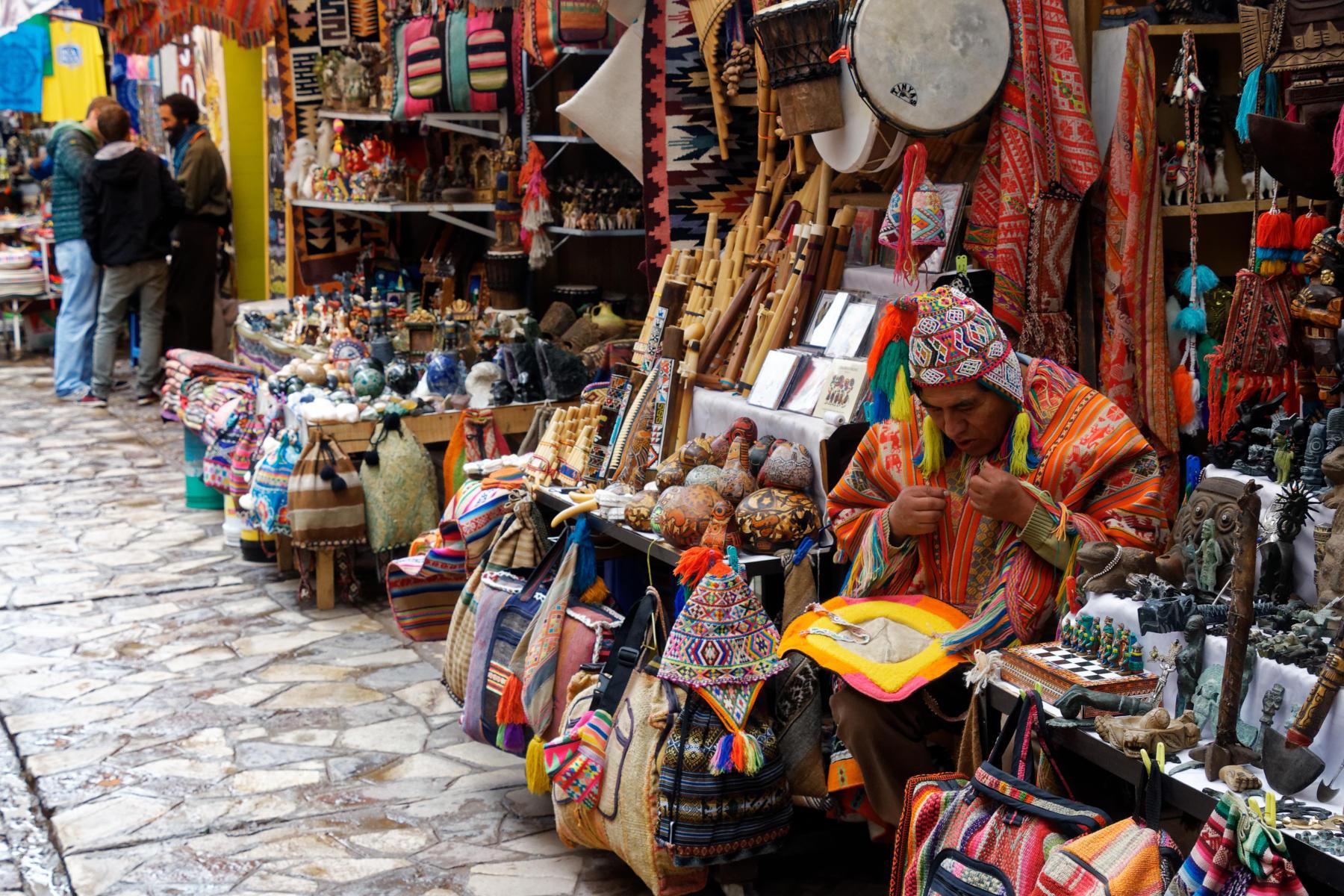 Pisac - market stall