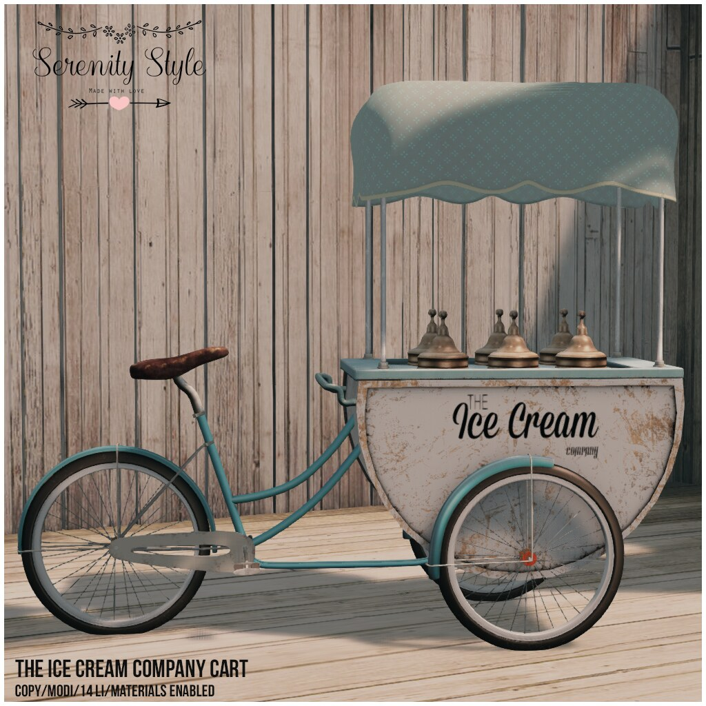 Serenity Style- The Ice Cream Company Cart