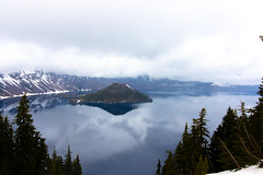 Wizard Island and Crater Lake