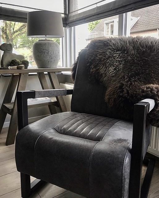 Leren fauteuil woonkamer