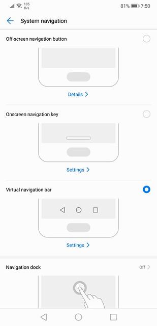 EMUI 8.1 - System Navigation