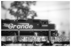 Model Train in B&W