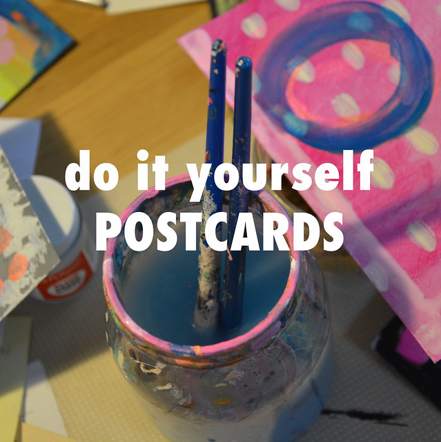 do it yourself Postcards - because, why the heck not?