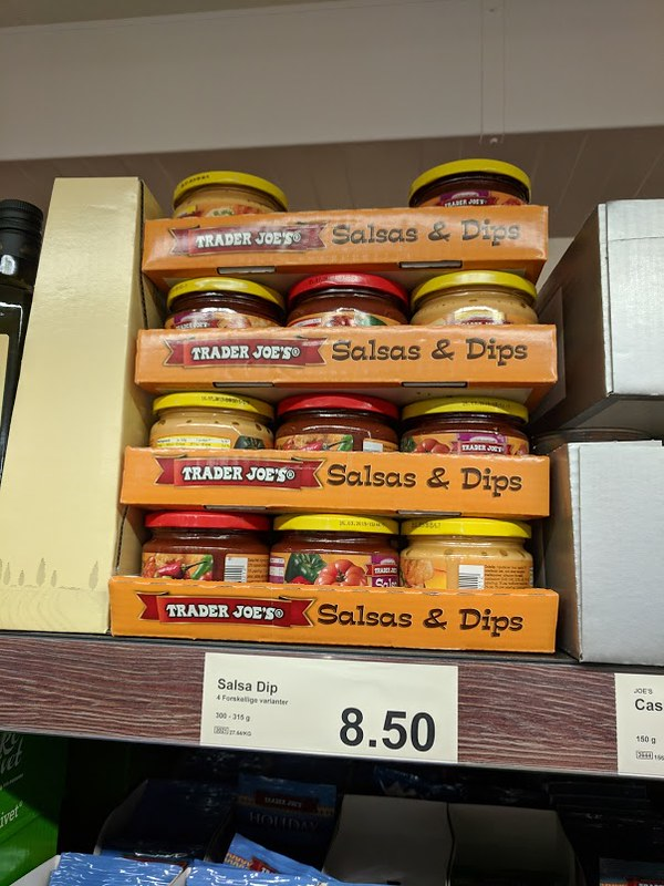 Trader Joe's salsa and dips