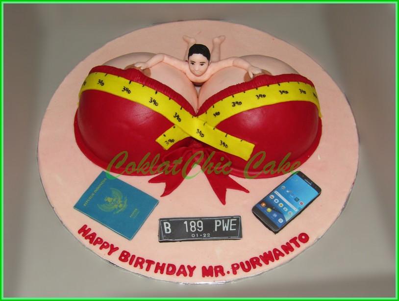 Cake Boobs MR PURWANTO 15 cm
