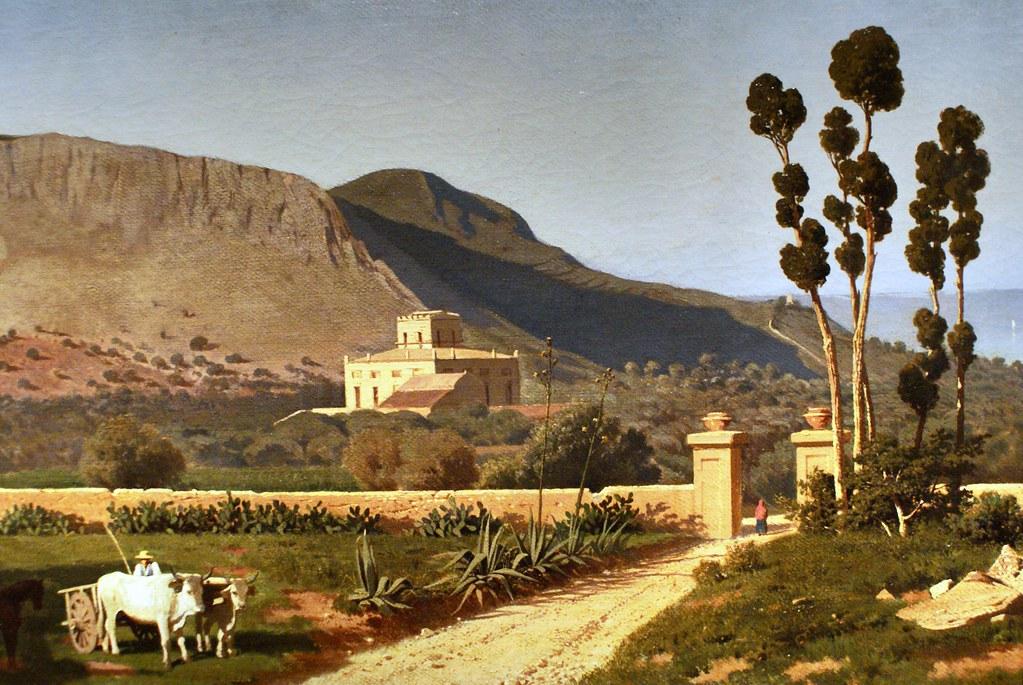 Veduta di monte Catalfano de Francesco Lojacono au musée GAM à Palerme.