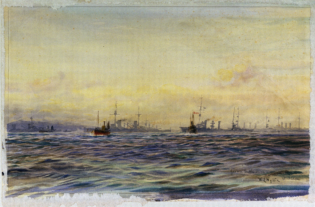"""German Battle ships and Light Cruisers at Scapa"" (1918)"