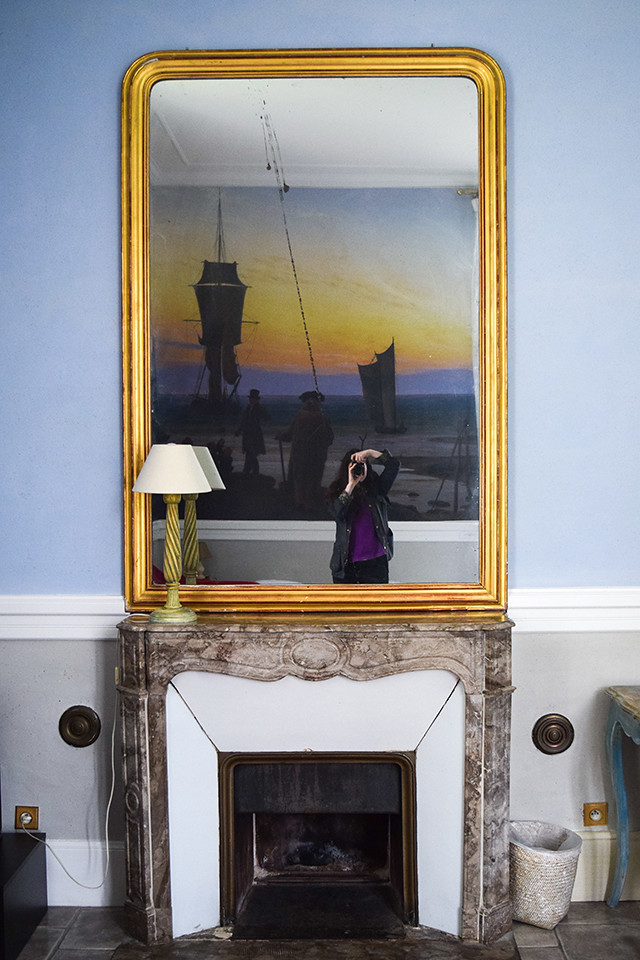 Bedroom Mirror at Château les Muids #loire #france #travel