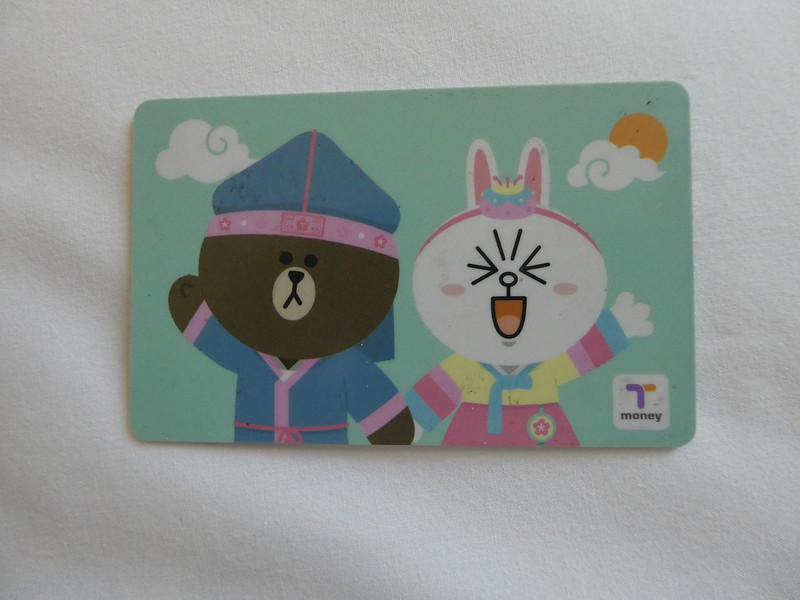 T Money Card with attractive Line Friends cartoon characters, South Korea
