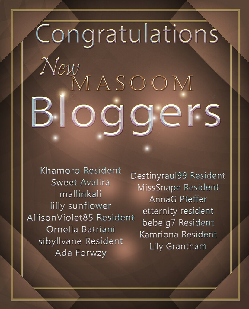[[Masoom]] New Bloggers May 2018