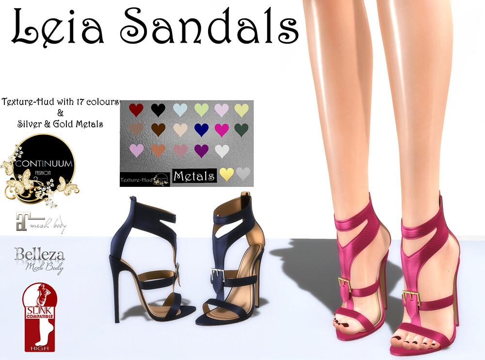 Continuum Leia Sandals - TeleportHub.com Live!